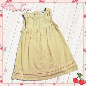🍒 Banana Yellow Corduroy Dress
